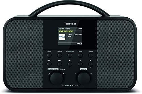 TechniSat TECHNIRADIO 5 IR - Stereo DAB+ Internetradio (DAB, UKW, AUX, 2,4 inch dimbaar kleurendisplay, WLAN, Sleeptimer, wekktimer, 2 x 5 Watt uitgangsvermogen) zwart