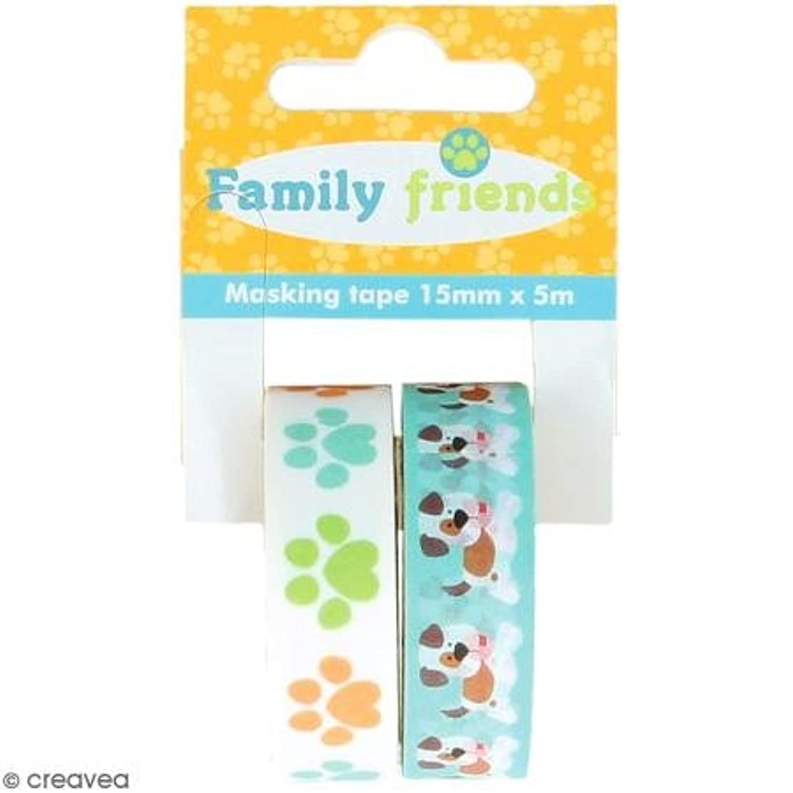 2?Masking Tapes Dogs Family Friends 15?mm x 5?m