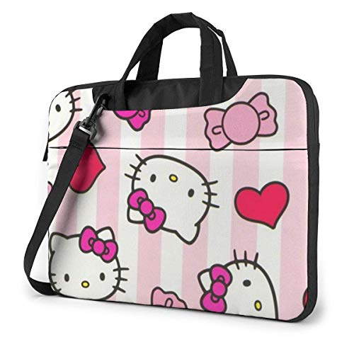 Hello Kitty Laptop Bag Busin Briefcase for Men Women, Shoulder Menger Laptop Sleeve Case Carrying Bag- 15.6 Inch
