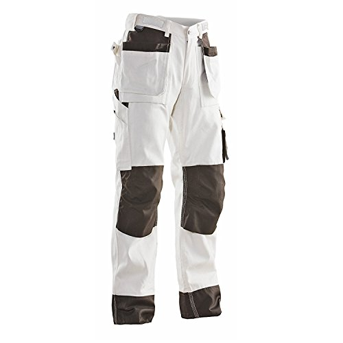 jobman Albañil Pantalones, 1 pieza, color blanco/marrón, multicolor, 217611-1019-C42