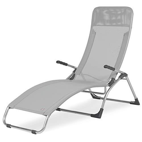 Liegestuhl Samba Fiam Art. 045TX BIGR Rahmen aus Aluminium Texilene Farbe weiß/grau