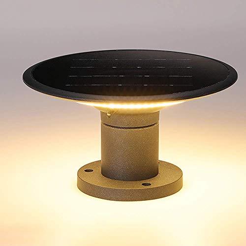 Lámpara de Poste, luz de césped para Exteriores Aluminio acrílico Luces de Columna Impermeables Luces de jardín Europeas Luces de Poste de Columna de Valla Industria Tradicional Energía Solar Luz de