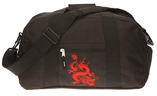 Elephant Sporttasche mit Schuhfach/Naßfach Sport Tasche + Trinkflasche (Dragon Schwarz)