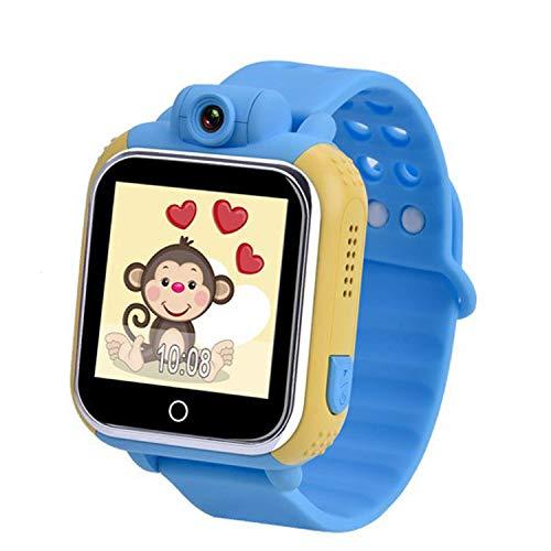 Kids Smartwatch con GPS Tracker Game Smart Watch Phone per bambine, fotocamera SOS Activity Tracker Alarm clock app con iOS Android inglese blu 4.8x 4x 1.51cm/4,8x 4x 1,5cm