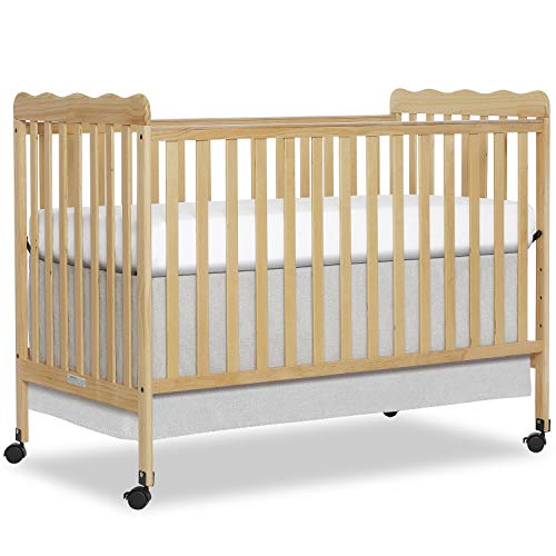 Dream On Me Carson Classic 3-in-1 Convertible Crib in Natural, Greenguard Gold Certified