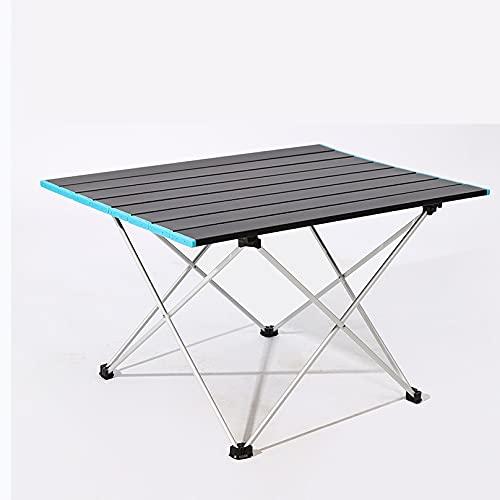 Flystpp Mesa Plegable de Picnic al Aire Libre Aleación de Aluminio de Alta Resistencia portátil Ultraligero Camping Mesa de Camping Escritorio Plegable para la Familia Barbacoa (Color : Medium)
