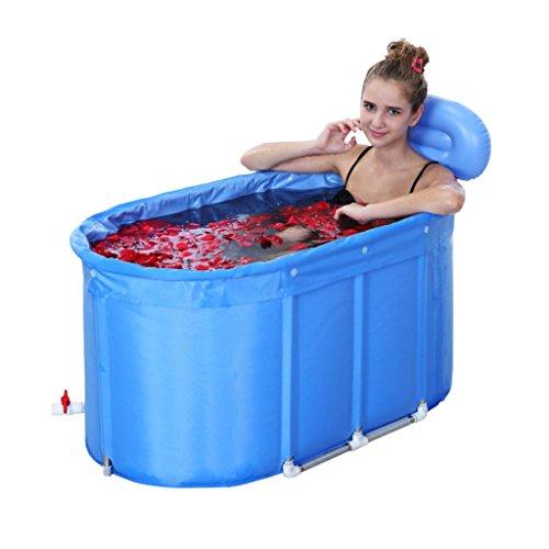 Baignoire gonflable pliable enfants adultes Bubble Bath seau Durable poussière/taille réglable/facile à plier bleu (110 * 60 * 60 cm, 120 * 75 * 70 cm) (taille : 120 * 75 * 70cm)