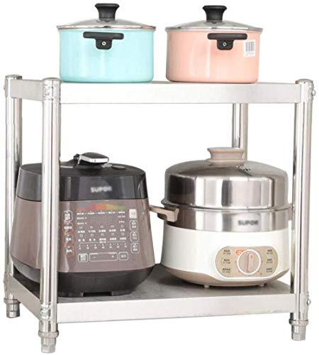 WYH Gemak Keukenrek Magnetron Oven Stand Kruidenrek Keukengerei Opslag RVS 2 Laag Stand Gezondheid