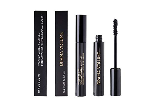 Korres Black Volcanic Minerals Drama Volume Mascara ,01 Black, 1er Pack (1 x 11 ml)
