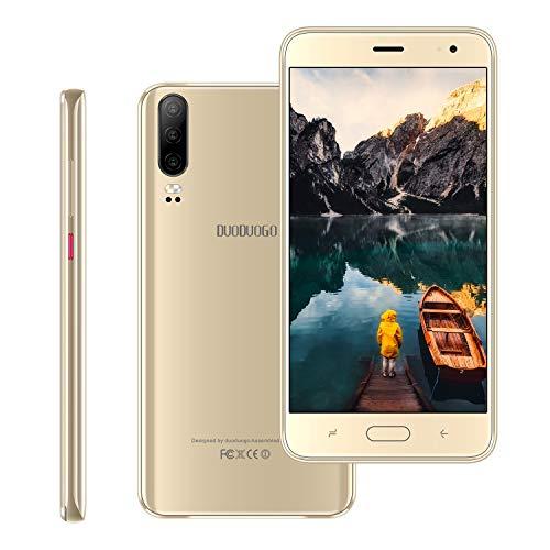 Moviles Libres Baratos 4G , 16GB ROM/128GB, 5.5 Pulgadas Smartphone Libre Android 9.0 ,4800mAh Batería, Teléfono Moviles Baratos Cámara de 8MP, Quad Core Dual Sim Moviles Baratos y Buenos(Oro)
