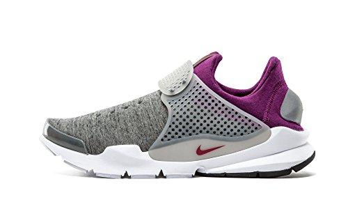 Nike Mens Sock Dart Tech Fleece Grey Heather/Cool Grey-Mlbrry 834669 006 - Size 10