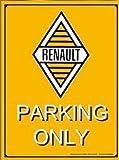 PLAQUE METAL 40X30cm LOGO RETRO RENAULT PARKING ONLY