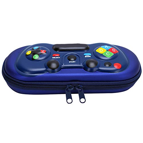 XWWS 3D Gaming Machine Pen Case, Hard Top EVA Large Capacity Pen Case, with Pen Slot And Grid, Is The for Students,royalblue