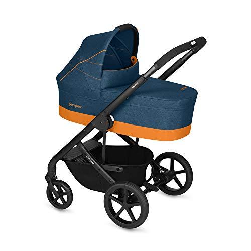 Imagen para Cybex Gold - Cochecito Balios S con silla reversible y con capazo S, desde el nacimiento hasta 17 kg (aprox. 4 años), tropical blue