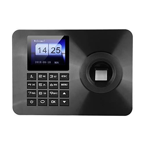 Boquite Fingerabdruck-Passwort-Anwesenheitsmaschine, Zeiterfassung, biometrische Fingerabdruck-Anwesenheitsmaschine Rekorder-Fingerabdruck und Passwortzugriff 100-240V(EU)