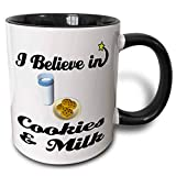 N\A Taza de café Divertida I Believe In Cookies and Milk Taza de Dos Tonos, 11...