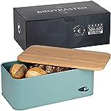 Chefarone Brotkasten Schneidebrett und Deckel in einem - Brotbox mit Lüftungslöchern für...