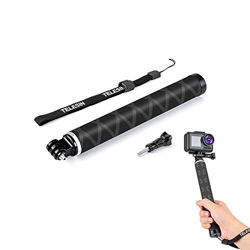 Palo de selfie extensible para Gopro, trípode ligero de fibra de carbono resistente al agua, compatible con cámaras GoPro Hero 9 8 7 6 5 4, SJCAM, DJI OSMO Action (palo de selfie)