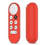 WE-WHLL Funda de Silicona Suave Antideslizante para Chromecast Control Remoto Funda Protectora Carcasa para Google Chromecast TV 2020 Control Remoto por Voz-Rojo