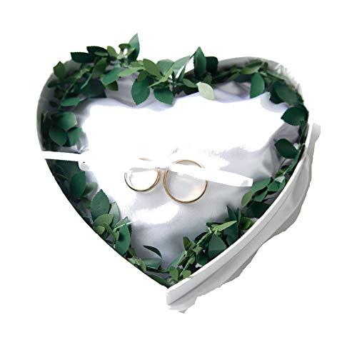 Ringkissen Hochzeit - Ausgefallenes Trauring-Kissen in Herzform