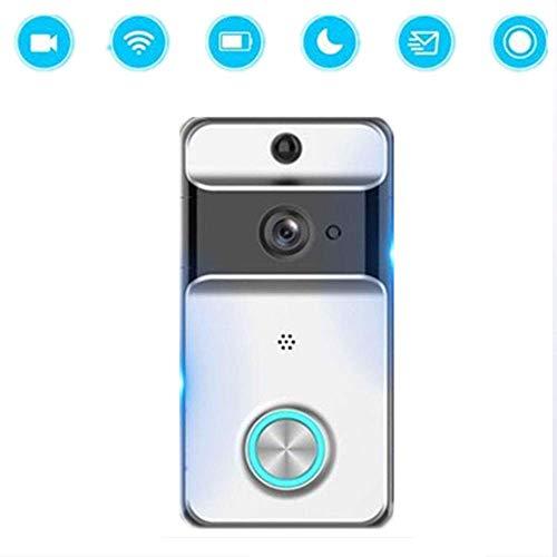 Lsmaa Video deurbel, draadloze WiFi-deurbel mobiele telefoon video-internet, waterdichte versie van de deurbel voor binnen en buiten