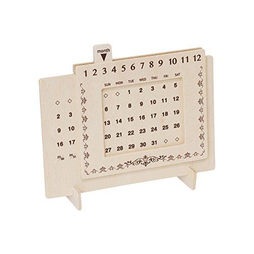 【Amazon.co.jp限定】ミコー産業 木製万年カレンダー ビンテージ川柄 ミコー51001