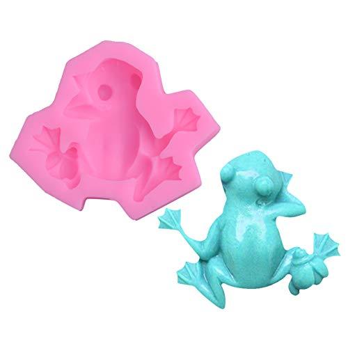 Shuda 1pc molde de silicona Mignon pequeña forma de rana Fondant pastel molde molde de chocolate jabón molde para niños, 9.5cm * 8cm * 3cm