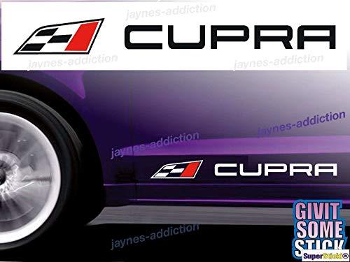 SUPERSTICKI 2X Cupra 25cm Aufkleber Sticker Decal aus Hochleistungsfolie Aufkleber Autoaufkleber Tuningaufkleber Racingaufkleber Rennaufkleber von aus Hochleistungsfolie für alle glatten Fläche
