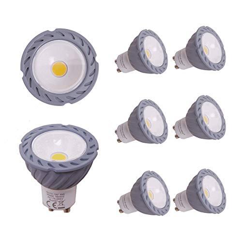 Greenfrog Pack de 6 Bombillas LED GU10, 6W COB LED Equivalente a 50W Lámpara Incandescente, Blanco Cálido 3000K 560 Lumen, AC 175-265V, Ángulo de haz de 120 °, 3 años de garantía