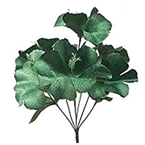 LINESS for 5X Hibiscus Artificial Silk Flowers Centerpiece Fake Faux Bouquet Party Tropical DIY LINESS for Wedding Flowers, Petals & Garlands Floral Décor – Color is Green