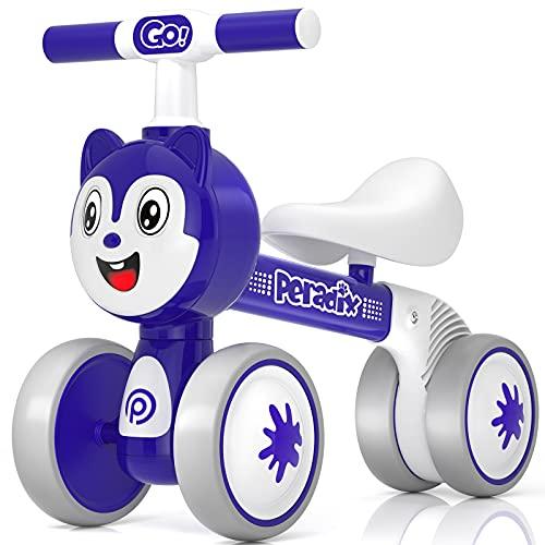 Peradix Bicicleta Niño, Bicicleta sin Pedales para Niños de 1,2 y 3 Años, Correpasillos Bebe con Ruedas Silenciosas sin Molestia a los Demás y Proteger al Niño Completamente por Múltiples Funciones