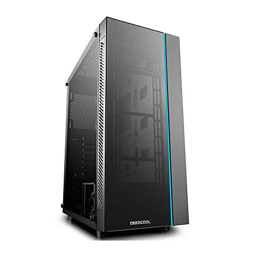 DeepCool MATREXX 55 Midi-Tower Black computer case - Computer Cases (Midi-Tower, PC, Plastic, SPCC, Tempered glass, ATX,EATX,Micro-ATX,Mini-ITX, Black, 0.6 mm)