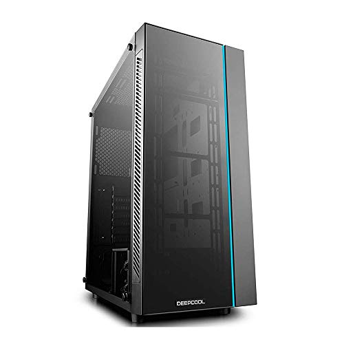 DeepCool MATREXX 55 Midi-Tower Black Computer Case (Midi-Tower, PC, Plastic, SPCC, Tempered Glass, Black, ATX,EATX,Micro ATX,Mini-ITX, 16.8 cm