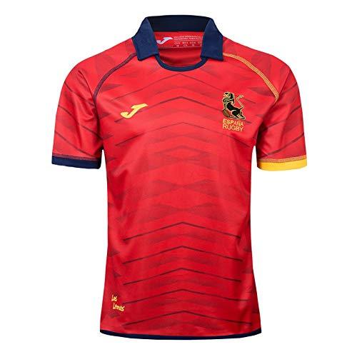 2019 España Selección Nacional de Rugby, Jerseys del Ocio del Verano Respirable de la Camiseta de Deportes Fútbol Camisa Camisa de Polo, cumpleaño XL