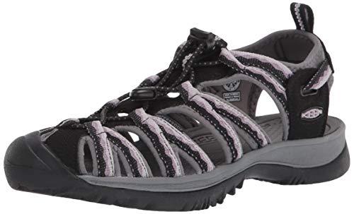 KEEN Women's Whisper Sport Sandal, Black/Thistle, 7 M (Medium) US