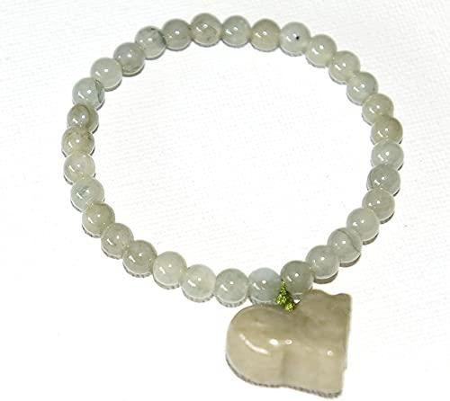 Pulsera Feng Shui Bead Señoras y adolescentes Chino Feng Shui Espiritual Verde Jade Bead Pulsera...
