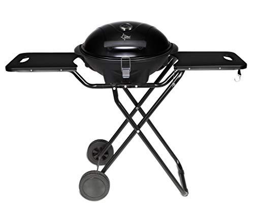 SUNTEC Elektrogrill BBQ-9295 auch als Tischgrill Geeignet | Grill mit Abnehmbarem Deckel und Regulierbaren Thermometer | Ideal für Balkon, Garten, Outdoor und Camping | Barbecue für mehrere Personen