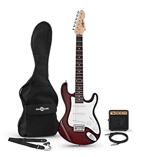 Guitarra Eléctrica 3/4 LA + Miniamplificador Wine Red
