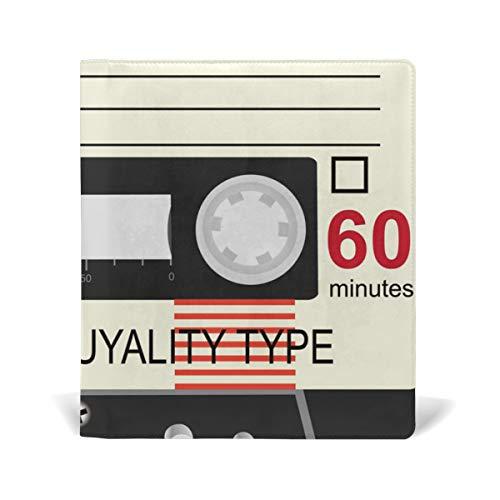 DEZIRO Cassettes de audio tipo sonido patrón libro cubiertas se adapta a libros de texto de tapa dura de hasta 9 x 28 cm