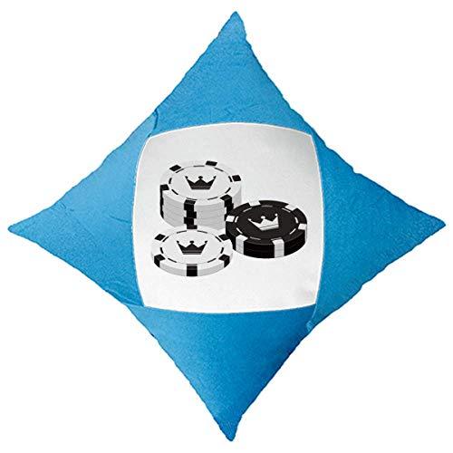 cold master DIY lab Patron de Juego Naipes fichas Utensilios Decorativo di copertina BLU a cuscino