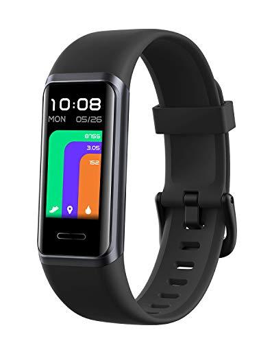 DOOGEE DG Band Smartwatch para Hombres y Mujeres, Alexa Incorporada, Oxígeno En Sangre, Reloj Inteligente con Monitorización De Frecuencia Cardíaca, Reloj Deportivo Impermeable Android iOS, Negro