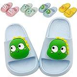 Toddler Cute 3D Animal Design Lightweight Bath Shower Garden Slippers Kids Soft Slide Sandals Non-Slip Summer Beach Pool Water Shoes Boys Girls Pink Blue Yellow Green(Blue,180)