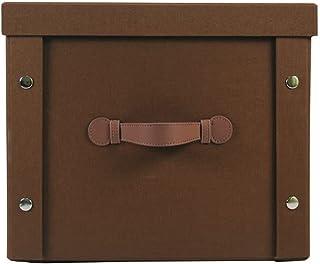 XTXY Boîtes De Rangement Pliables en Cube avec Couvercles Boîte Poubelles Paniers avec Tissu (Kaki, Marron) 25l (Color : B...