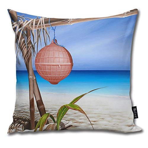 QMS CONTRACTING LIMITED Throw Pillow Cover Castaway at Lizard Island Decorative Pillow Case Home Decor Square 18x18 Inches Pillowcase
