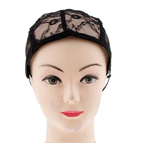 T TOOYFUL Bonnet Perruque Casquette Maille Tissage Chapeaux Filet Cheveux Respirable 26x16cm