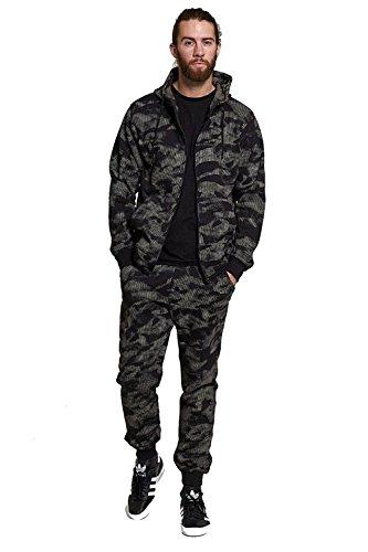Mymixtrendz® Heren Camouflage Speckled Sport Trainingspak Set Trainingspak Broeken & Hoodie