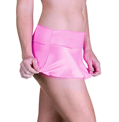 Delicate Illusions Sexy Micro Mini Stretch Short Skirt for Women Standard Dress Size S (3-5) Hot Pink