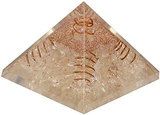 Aatm Energy Generator Gemstone Clear Quartz Crystal Orgone Pyramid for EMF Protection Chakra Healing Meditation (3 and 3 I...