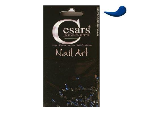 Cesars Nail Art Curve Tear Drops bleu