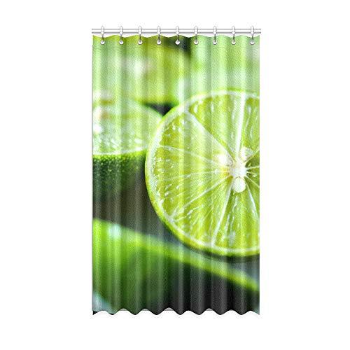cortinas habitacion verde lima